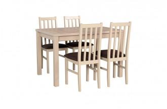 Zestaw stół MAX 5 + 4 krzesła BOS 10
