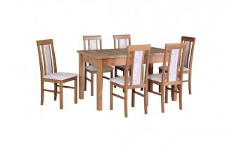 Zestaw stół ALBA 2 + 5 krzeseł NILO 2