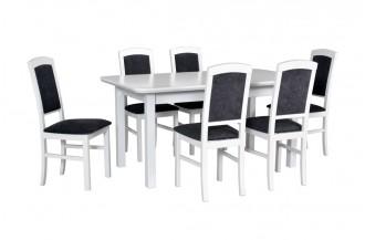 Zestaw stół WENUS 5 S + 6 krzeseł NILO 4