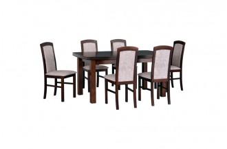 Zestaw stół KENT 2 + 6 krzeseł NILO 5