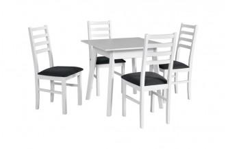 Zestaw stół OSLO 1 + 4 krzesła NILO 8