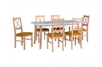Zestaw stół OSLO 8 + 6 krzeseł NILO 10