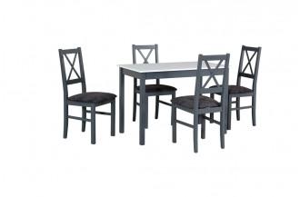 Zestaw stół MAX 2 + 4 krzesła NILO 10