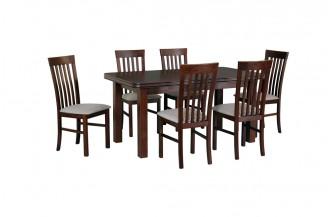 Zestaw stół WENUS 5 + 6 krzeseł MILANO 2