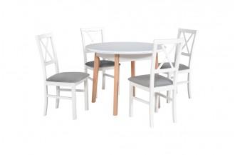 Zestaw stół OSLO 4 + 4 krzesła MILANO 4