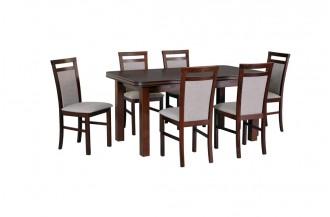 Zestaw stół WENUS 5 + 6 krzeseł MILANO 5
