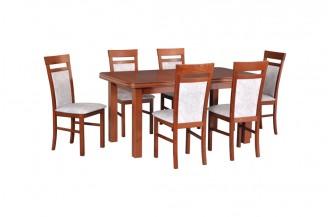Zestaw stół WENUS 5 + 6 krzeseł MILANO 6