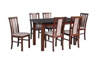 Zestaw stół WENUS 5 S + 6 krzeseł MILANO 7