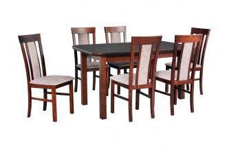 Zestaw stół WENUS 5 S + 6 krzeseł MILANO 8