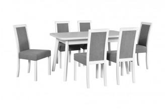 Zestaw stół OSLO 6 + 6 krzeseł ROMA 3