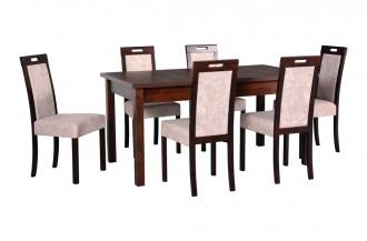 Zestaw stół MODENA 2 + 6 krzeseł ROMA 5