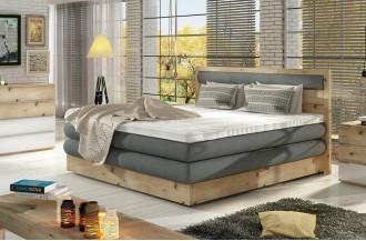 Łóżko kontynentalne drewniane DIORI