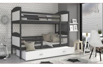 Łóżko MATEUSZ 3 szare