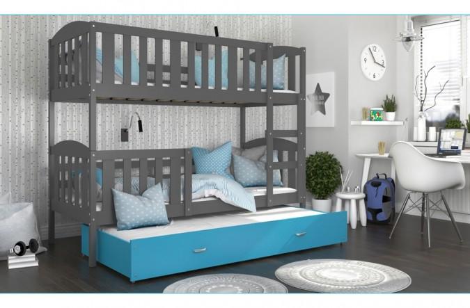 łóżko Kubuś 3 Szare