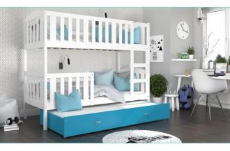 Łóżko KUBUŚ 3 drewno białe