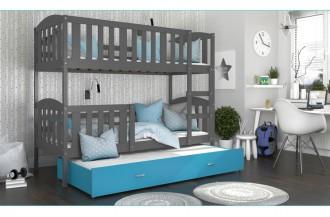 Łóżko KUBUŚ 3 drewno szare