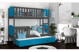 Łóżko TAMI 3 k szare