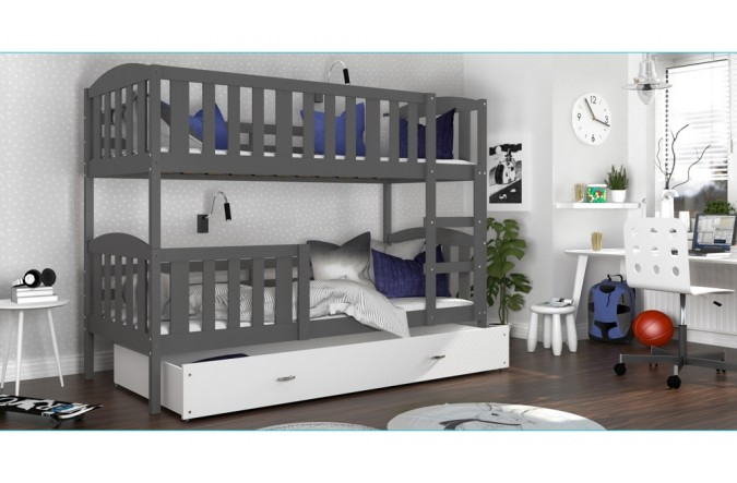 łóżko Kubuś 2 Szare