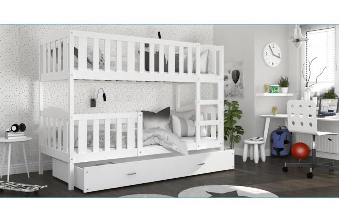 łóżko Kubuś 2 Drewno Białe