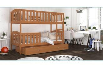 Łóżko KUBUŚ 2 drewno olcha