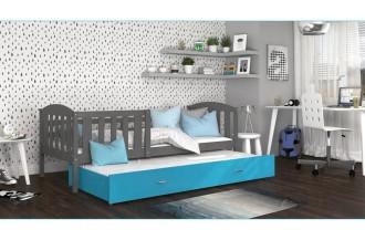 Łóżko KUBUŚ P2 szare