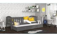 Łóżko KUBUŚ P2 drewno szare
