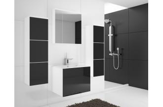 Zestaw łazienkowy PORTO czarny połysk