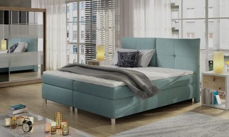 Łóżka tapicerowane kontynentalne